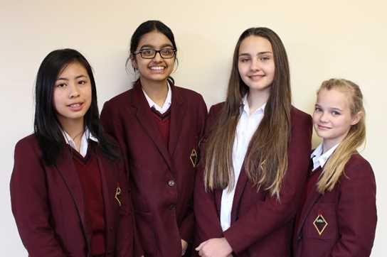 Ingrid, Shivani, Elizabeth and Millie enjoyed taking part in the Salters' Festival of Chemistry
