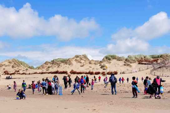 The children had a fantastic time playing and learning on the beach