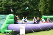 The human table football game proved very popular!