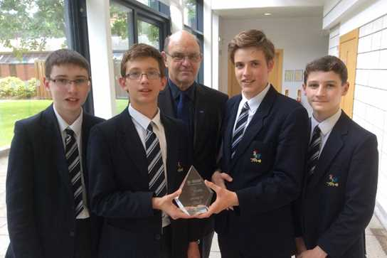 Ross, Matthew, James and Ruairi with the second place trophy