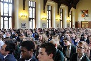 The Great Hall was packed with enthusiastic readers
