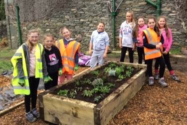 The girls built a herb garden as their conservation project