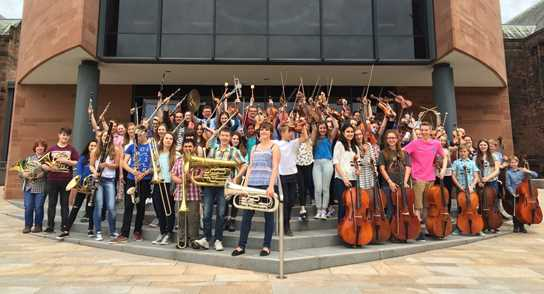 Salford and Bolton Youth Orchestras joined forces with Bolton School's Orchestra