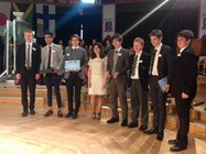 The Chinese delegation collect their prize at the end of the conference