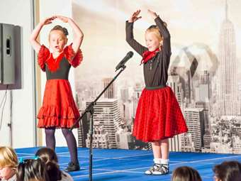 Pupils performed a variety of dances