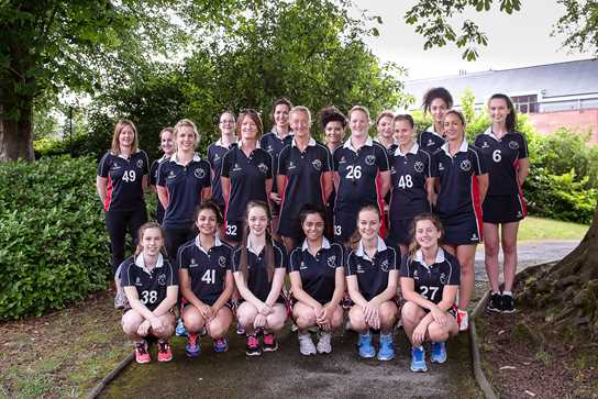 The Old Girls' netball team proved too strong for the current team on the day