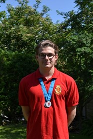 Dominic won two silver medals at the ESSA Championships