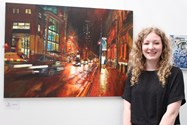 Nuala Fowler with her artwork