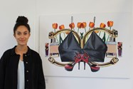 Iman Orths and her piece