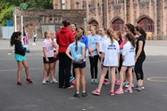 Girls enjoying the Netball Academy