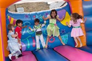 Children had a great time playing on the bouncy castle