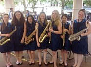 Pupils from both Divisions make up the Saxophone Choir