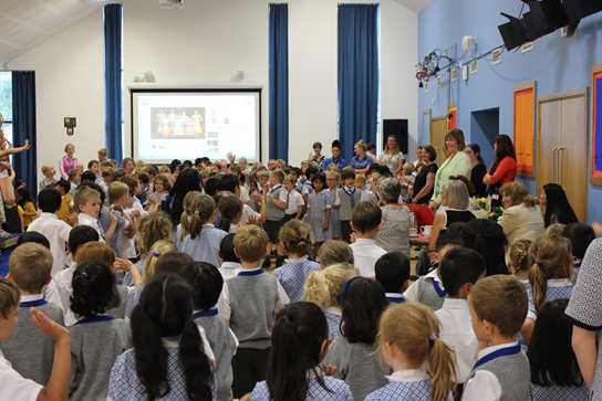 Mrs Northin enjoyed a whole school leaving assembly