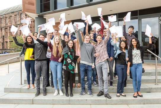 10 and 11 A* girls and boys celebrate their GCSE results