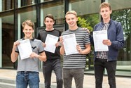 Besides receiving excellent GCSE results, these boys were also part of the school