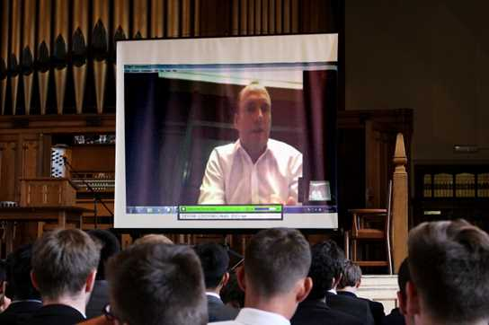 It was fantastic to be able to talk to Hong Kong via a live link