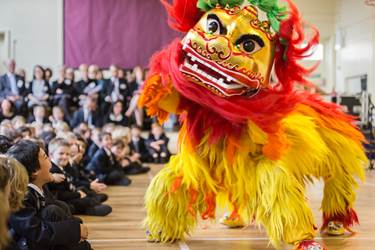 A colourful Lion Dance opened the official ceremony