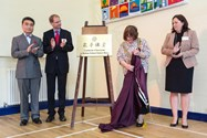 The official plaque is unveiled by the Mayor of Bolton and Mr Wang Ying