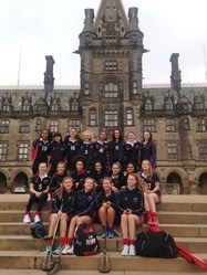 The Senior Netball and Lacrosse girls in Edinburgh