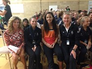 The girls and teaching staff were delighted to meet Sally Gunnell and Katrina Johnson-Thompson