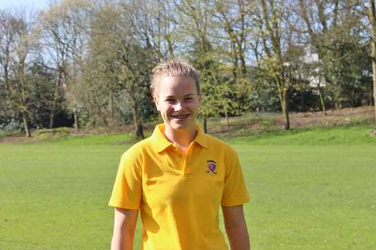 Ellie in her Cumbria County Golf uniform