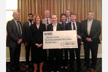 The Heads were delighted to receive over four thousand pounds towards the bursary fund