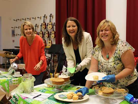 Members of the P.A. served up delicious cakes and hot drinks