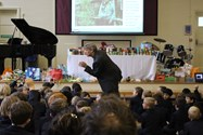 The Reverend gave a thought-provoking assembly