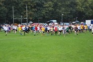 The primary school runners set off around the course at Bolton School