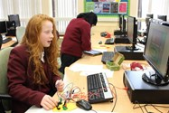 Testing a Play-Doh controller in the ICT Workshop
