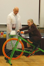 Creating a smoothie using only pedal-power was lots of fun