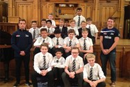The boys who did the Haka with Sale Sharks players Tim Jeffers and Andy Hughes