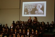 Year 6 girls narrated the story of remembrance