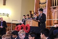 Six Year 10 boys paid tribute to Old Boys and staff who had lost their lives in World War Two