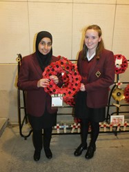 Hafsa Qadeer and Rachel Care laid a wreath at the Menin Gate