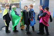 The boys were really proud of their cape designs
