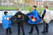 Boys in their superhero capes