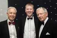 Timothy Taylor, Manager at Patterdale Hall, is photographed with compere Nicholas Owen and guest speaker Nick Hewer