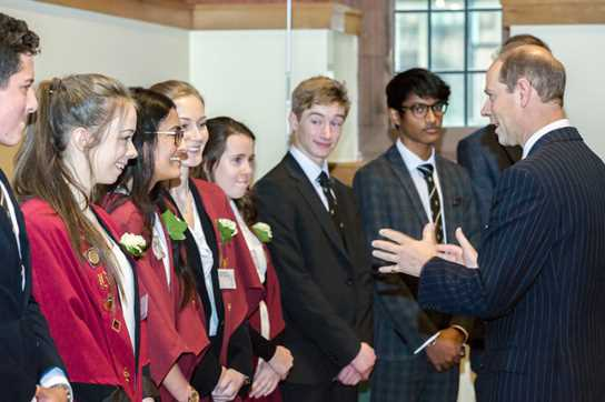 Young volunteers share their experiences with the Prince