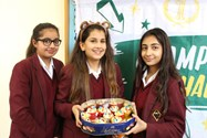 The Year 9 girls held a series of cake and sweet sales to raise money