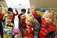 Small superheroes at the Nursery