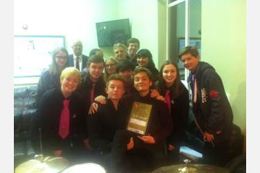 The Joint Jazz Band with their Gold Award