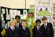 Lucia with some of the Bolton School boys joining the Pod Trail