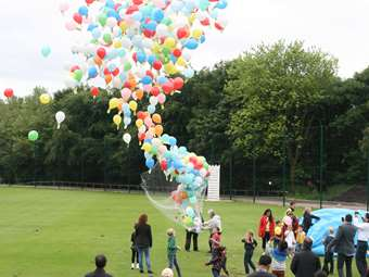 The balloon release marked the opening of the Foundation Family Festival