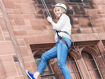 The Clock Tower abseil was a highlight of the day