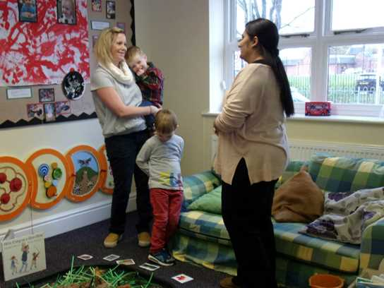 Parents were able to share tips with each other and get advice from Nursery staff