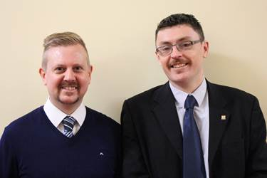 Mr Tillotson and Mr Coffey sporting their November moustaches