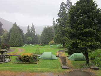 The tents at Patterdale Hall