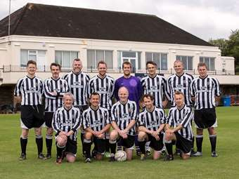 One of the football teams on the day
