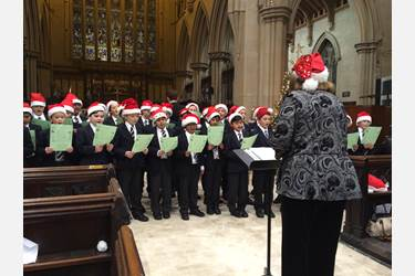 Mrs Ives leads the Junior Boys' Choir